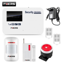 Fuers English Russian GSM Alarm Wireless Home Security GSM Alarm System with Relay IOS Android APP Control Intercom Auto Dial(China)