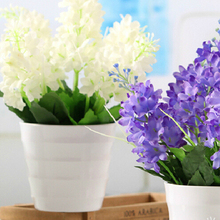 1PC Lovely Dark Purple 5 Heads Artificial Fake Hyacinth Flower Bedroom Home Office Cafe Decor