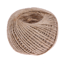1Roll 50M Natural Burlap Hessian Jute Twine Cord Hemp Rope String 2mm Rustic Wrap Gift Packing String Wedding Decoration