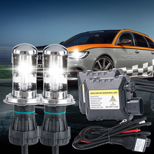 Bi Xenon bulb kit h4 high low 12v 55W DC h4 xenon HID For Car Headlight Replacement lamp 4300k 5000k 6000k 8000k 10000k