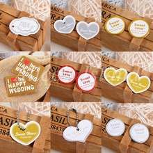 100pcs/lot Sweet love Wedding Tag Paper Gift Tag Label Marks Wedding Gift Candy Box Bottle Decorations Fashion DIY Accessories