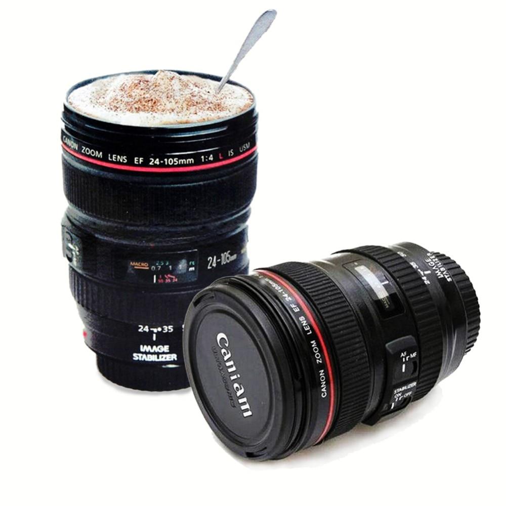 Camera Lens Travel Mug With Lid 300-400ml 12oz/400ml