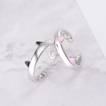 JEXXI kawaii Cute Cat Ears Ring Adjustable Size Finger Ring for Women Girls Birthday Gifts Parure Bijoux