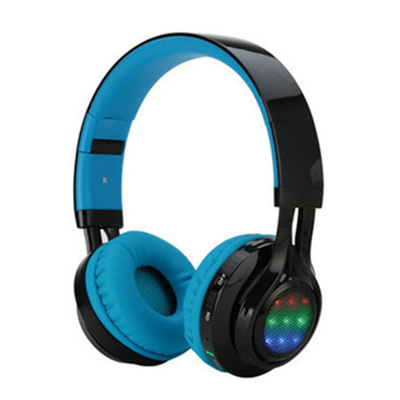 Bluetooth wireless Headphone AB005 Super Bass With Microphone Foldable Headset 3 Color LED Light Support TF Card FM Radio<br>