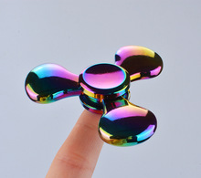 Buy 2017 Rainbow Fidget Spinner Hand Finger Toys Metal Alloy Anti Stress EDC Handspinner Christmas Toys Children tri-spinners for $3.69 in AliExpress store