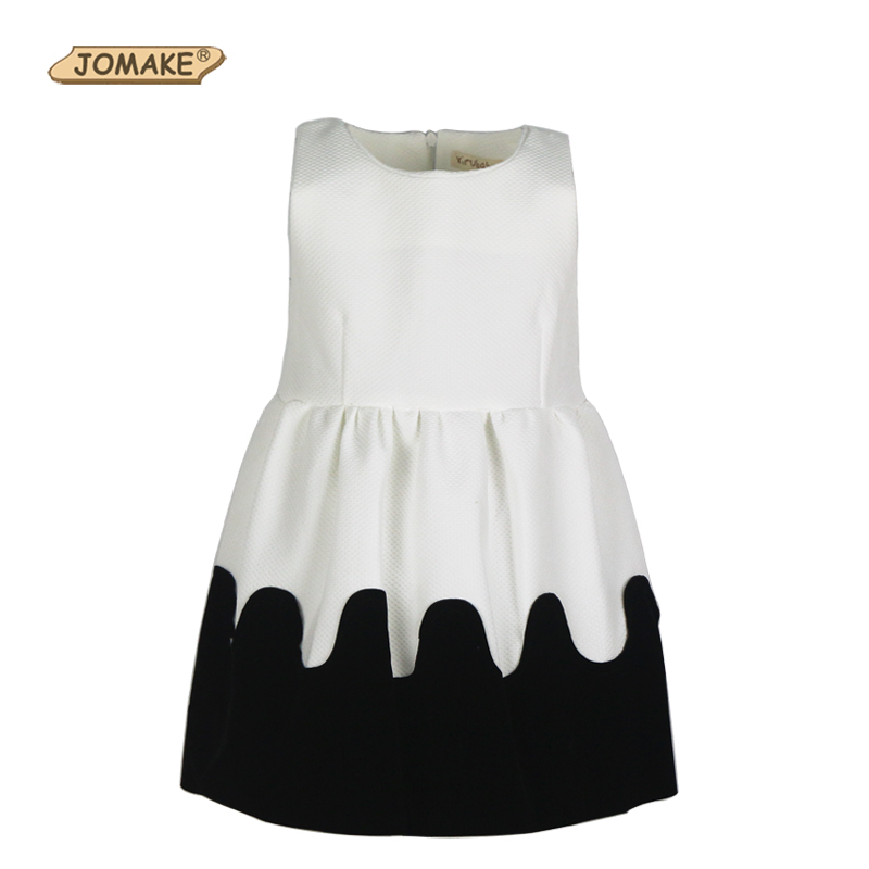 Classic Black and White European New Style Girls Dress Temperament Princess Party Dresses Necklace Sleeveless Baby Girl Clothing<br><br>Aliexpress