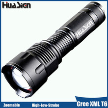 Strong Light Cree XML T6 Tactical Led Flashlight High Power Zoom Bright AA/18650/26650 Battery Led Torch (Not Include Battery)(China)