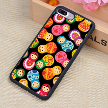 Russian Dolls Matriochkas Pattern Soft Rubber Mobile Phone Cases For iPhone 6 6S Plus 7 7 Plus 5 5S 5C SE 4 4S Cover Skin Shell