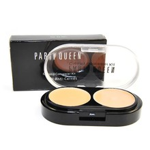 Hot Professional Face Makeup Creamy Concealer Beauty Foundation Cream +Loose Powder Natural Palette