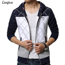 New 2017 Spring Autumn Mens Casual Slim Fit Hooded Hoodies Sweatshirt Sportswear Male Patchwork Fleece Jacket Plus Size 4XL 5XL(China)