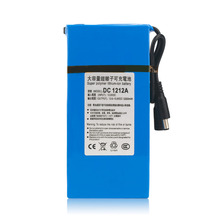 High Quality 12000MAH Large Capacity Long Battery Life DC 12V Rechargeable Li-ion Backup Battery Pack For Camera Drop Shipping