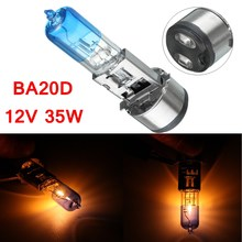 Scooter ATV Headlight Bulb BA20D 12v 35w For GY6 Tank Sunl Baja Roketa JCL Light Color Yellow BA20D