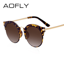 AOFLY Ladies Sunglasses 2017 Semi-Rimless Sun Glasses For Women Brand Design Mirror Eyewears UV400 Protection With Case AF79153(China)