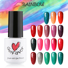 Gelfavor 7ml Rainbow Series Neon UV LED Gel Polish Nail Gel Polish Nail Gel