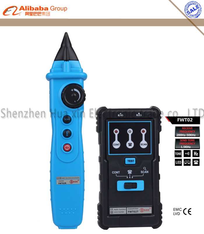 BSIDE FWT02 Multi-function Network Cable Tester RJ45 LAN Tester Cable Wire Tracker Telephone Line RJ11 Tester Ferramentas<br>