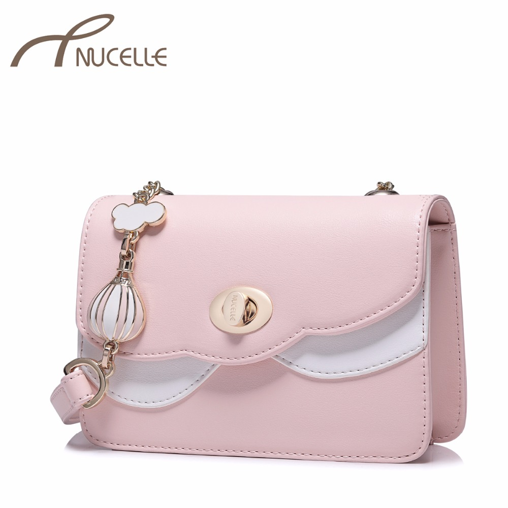 NUCELLE Ladies Fashion Chain Flap Messenger Bags Female Chain Mini Crossbody Purse NZ4103 Womens PU Leather Shoulder Bags<br>