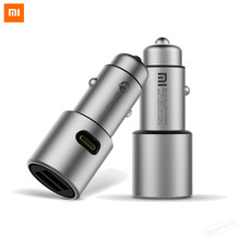 Buy New Coming Original Xiaomi Car Charger QC3.0 X2 Full Metal Dual USB Mi Smart Quick Charge MAX 36W Fast Charge for $15.47 in AliExpress store
