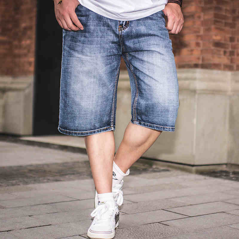 2017 Summer Mens Straight Regular Fit Jean Shorts Big Size Men Denim Shorts Plus Size 36 38 40 42 44 46Одежда и ак�е��уары<br><br><br>Aliexpress