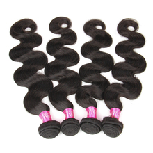 Beauty Grace 4 Bundles Brazilian Body Wave Human Hair Weave Bundles Natural Color Non Remy Hair Extension Weave Free Shipping(China)