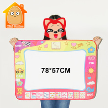 MiniTudou 78x57cm Toys Water Drawing Mat Board Painting And Writing Doodle With Magic Pen Non-toxic Drawing Board For Baby Kid