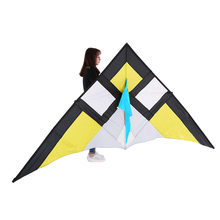 290*135cm Outdoor Fun Sports Giant Single Line Stunt Kite Good Flying With Handle Delta-shape Triangle Fly Kite Flyer for Beach