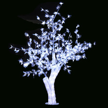 Free ship 5ft 1.5M LED Christmas New year party holiday LED Light Crystal Cherry Blossom Tree white Color waterproof home garden