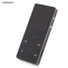 GERUIDA MP4 Bluetooth Full Metal MP4 Music Player MP4 Player Bluetooth with Earphone Support Video Recording Watch TF FM Radio(China)