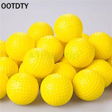 Indoor Outdoor Sports Training Practice Golf Elastic PU Foam Balls Yellow OOTDTY
