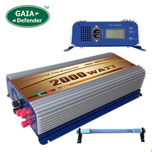 2000W LCD display Wind Power Grid Tie Inverter with Dump Load Controller Resistor for 3 Phase wind turbine