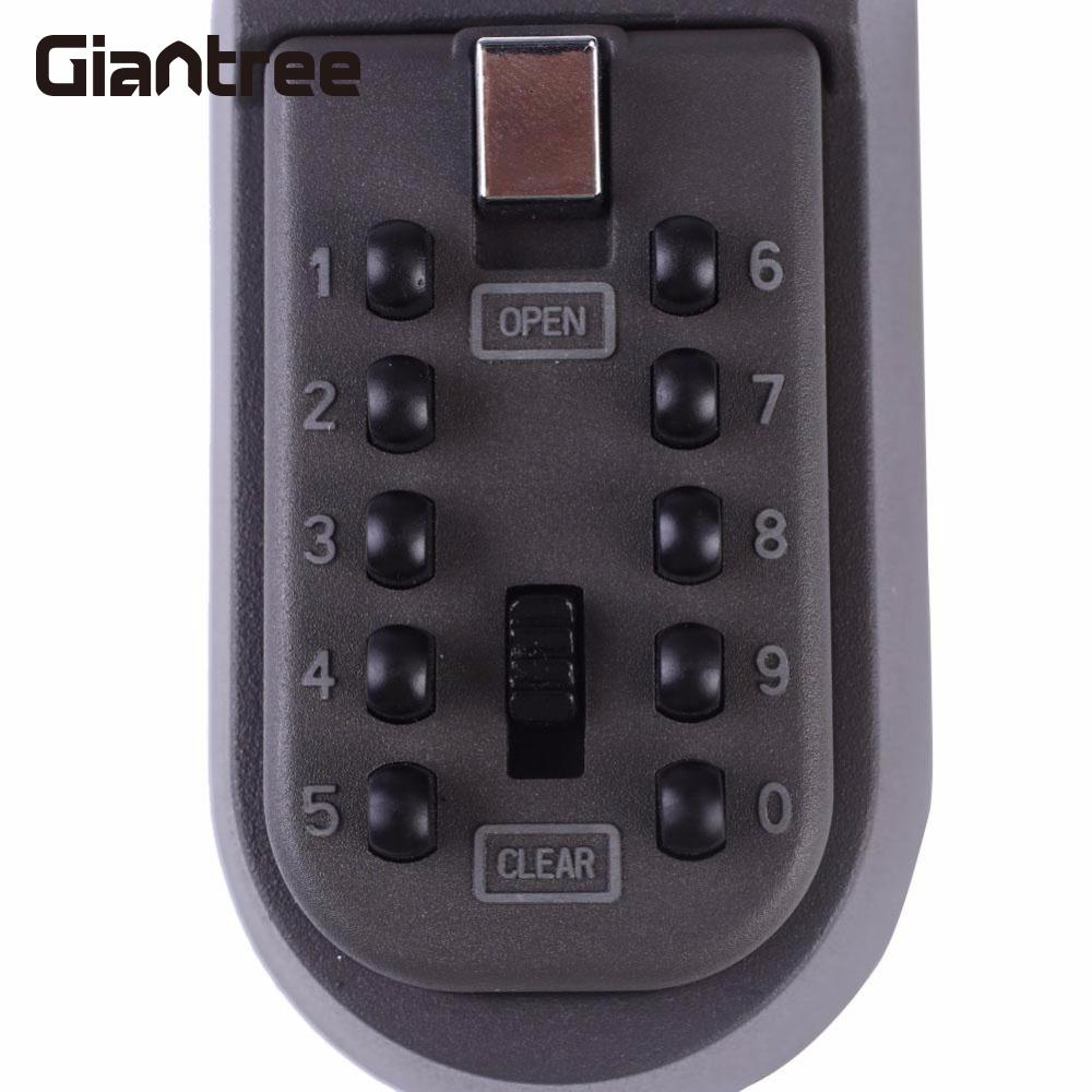 giantree Digital Password Combination Lock Wall Mounted Key Safe Storage Lock Box Lockbox Safes<br>