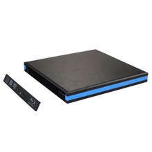 New 12.7mm external USB drive USB 3.0 External Slim USB Enclosure Case For CD DVD RW Blu Ray (not include any drive)