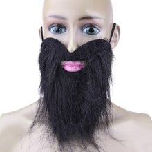 Buy 1pc Funny Costume Party Male Man Halloween Beard Facial Hair Mustache Artificial Beard Stick-on Tash Whisker Dress Party Joke for $1.11 in AliExpress store