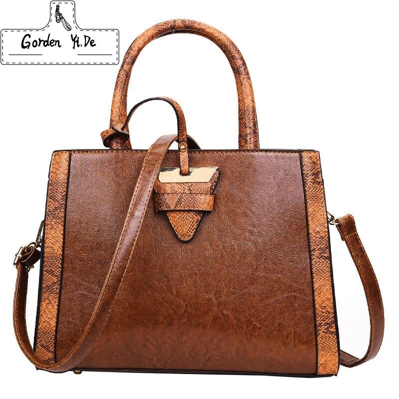 Gorden Yi De Bags Handbags Women Famous Brands Shoulder Bags Designer Handbags High Quality Vintage Tote Bags for Women <br>