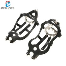 One Pair 18 Teeth Crampons Traction Device Outdoor Ski Ice Snow Hiking Climbing Non-slip Shoes Cover Stainless Steel Crampon