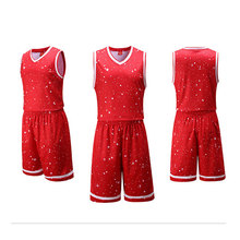 New Arrivals Spot design Men's Basketball Jersey Suits Throwback Jerseys Sleeveless Shirts Spot printed Breathable 3020(China)