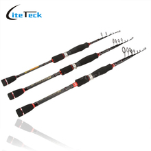 Sales Portable 1.8m / 2.4m / 2.7m Telescopic Fishing Rod Carbon Fiber Spinning Rod Fishing Pole(China)