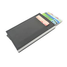Business Card Holder Name card Wallet RFID Blocking One Side Click Automatic Pop-up Credit Card Cover Bank Card Case