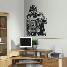 GIANT DARTH VADER STAR WARS CHILDRENS BEDROOM WALL STICKER ART SELF ADHESIVE PVC VINYL TRANSFER DECAL(China)