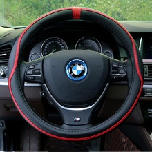 NEW Sport Steering Wheel Cover Fiber Leather Car Steering Covers Four Season Auto Supplier Car Accessories Cases BMX VW AUDI