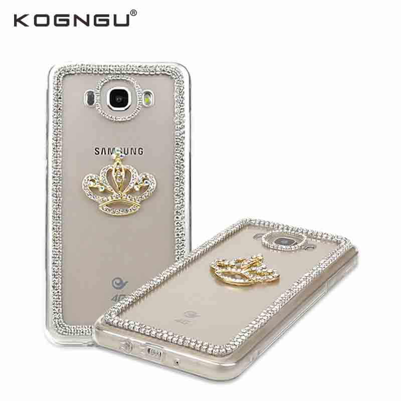 Kogngu Diamond Bling Rhinestone Soft Tpu Bumper Samsung J5 2016 Case Crystal Accessories Samsung Galaxy J5 2016 Cover