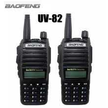 2-PCS BAOFENG UV-82 VHF UHF 128 CHS Handheld Transceiver With LCD FM Radio Receiver CB Radio Dual PTT Launch Key Flashlight(China)
