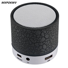 MXPOKWV A9 MP3 Player Mini Portable Loudspear Wireless Bluetooth Speaker Support TF Card For Phone Laptop PC