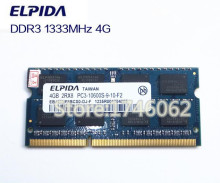 Original Japan ELPIDA DDR3 2GB/4GB PC3-10600S-9-10 DDR3  Notebook/Laptop Memory RAM/single-strip
