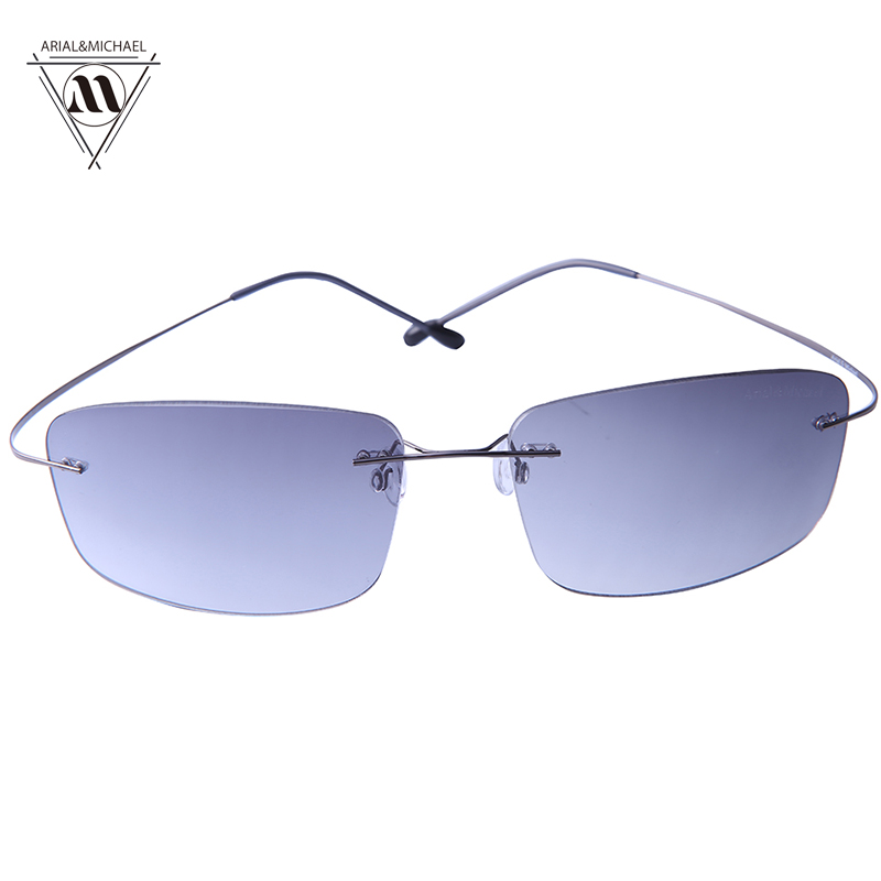 Arial&amp;Michael Anti-Glare Eye Protection Rectangle Sunglasses men HD Polarized Nylon Lens Titanium Bridge Sun glasses 8208<br><br>Aliexpress