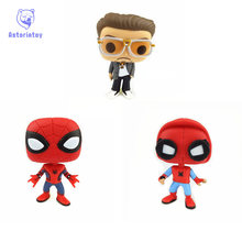 Buy NEW 10cm Spider-Man Homecoming TONY STARK action figure Bobble Head Q Edition new box Car Decoration for $9.50 in AliExpress store