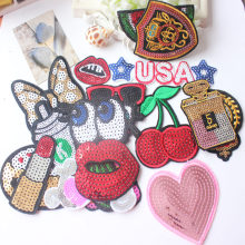 Free shipping 1pcs/lot  cartoon patches fashion Embroidered iron on patch for clothing Applique DIY Accessory