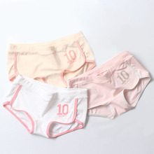 Buy Cotton Middle Waist Breathable Women Briefs Soft College Wind Panties Knickers Calcinha Lingerie Seamless Underwear Underpants
