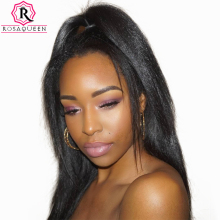 Yaki Human Hair Brazilian Hair Weave Bundles Light Yaki Straight Hair Extensions 1 Piece Remy Rosa Queen Hair Products