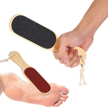 2017 1Pcs Foot File Wooden Sand Paper Dead Skin Removal Toe Exfoliator Heel Cuticles Exfoliating Scrub Feet Care Tool(China)