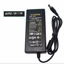 1pcs 12V 6A 12V6A AC100V-240V LED light power adapter LED Power Supply Adapter Transformer for LED strip 5050 2835 not with line